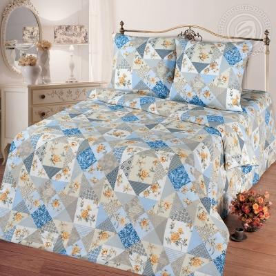 Лоскутная мозаика голубой