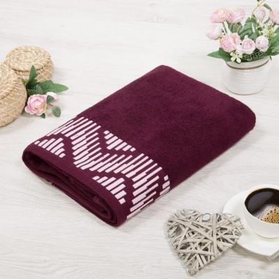 Бруно полотенце махровое (Россия) бордовый