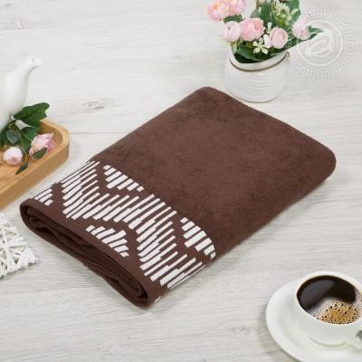 Бруно полотенце махровое (Россия) коричневый