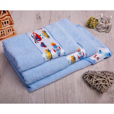 Мойдодыр полотенце махровое (голубой)