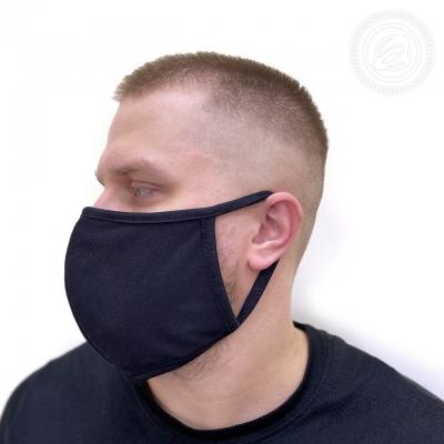Маска защитная (черный трикотаж)
