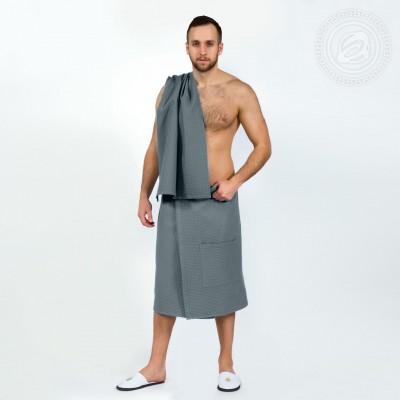 Набор для бани и сауны мужской серый